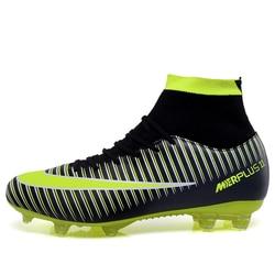 Korki dla mężczyzn wysokie korki piłka nożna oryginalne ze skarpetkami profesjonalne buty piłkarskie piłka nożna z botkami