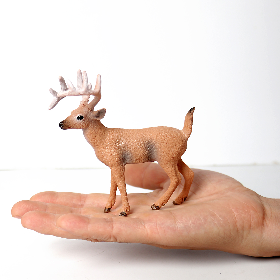 Elk Realistic Figure Fawn Model Decoration Kids Gift Toy For Collection UK Stock
