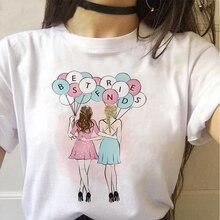 Bbf женские топы футболка для подружек хлопковая летняя уличная
