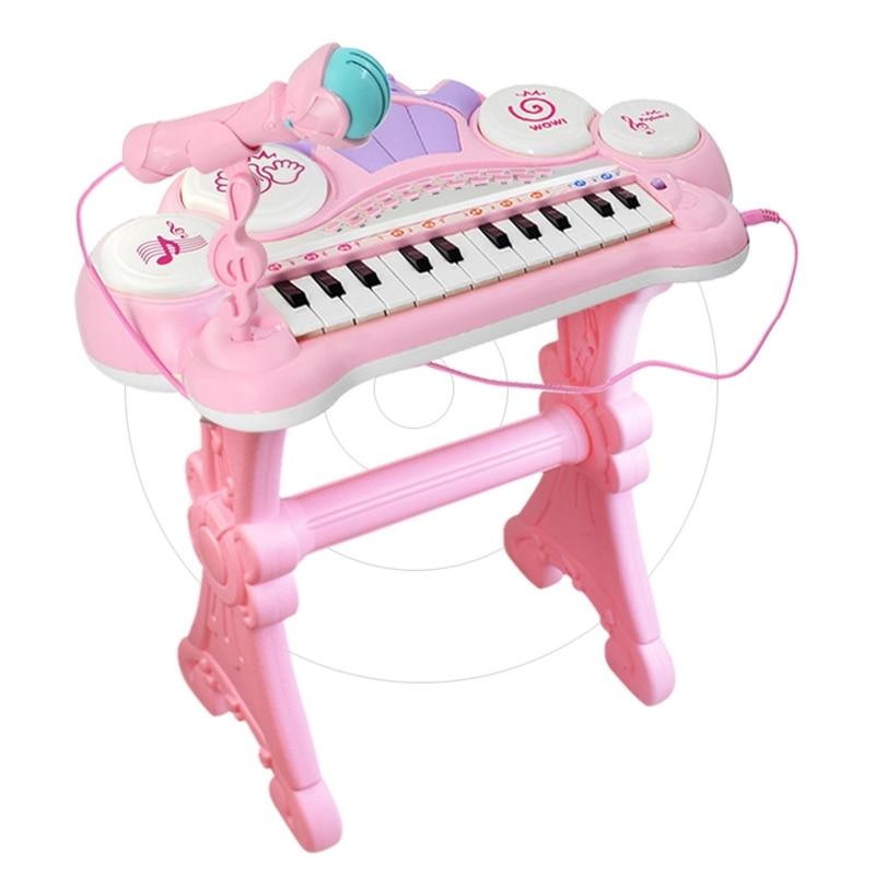 Multifuncional 24 teclas teclado eletrônico piano órgão