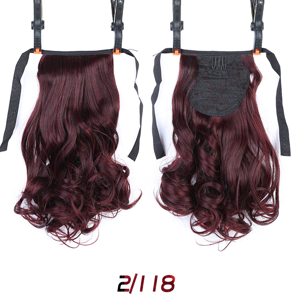 WTB Short Clip In Drawstring Wavy Ponytail Hair Pieces Heat Resistant Synthetic Fake Hair Tail Horse Tress Short Hair Tails 12