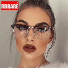 RBRARE clásico gafas con montura metálica mujeres Retro gafas De protección contra luz azul De los hombres Monturas De gafas Lentes Mujer