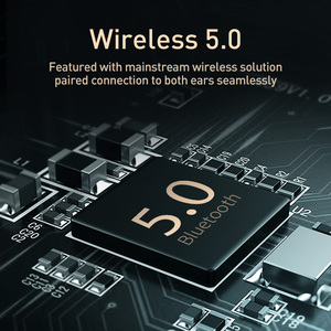 Image 5 - Baseus D07 Wireless Headphone Bluetooth 5.0 Earphone Handsfree Mega Bass Headset Ear HeadPhone For iPhone Xiaomi Huawei Earpiece