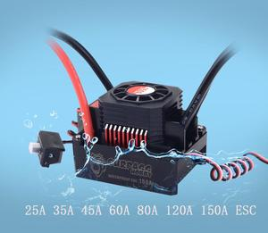 Image 1 - Waterproof Brushless Senseless Speed Controller 45A 60A 80A 120A 150A ESC for 1/8 1/10 1/12 1/20  RC Car