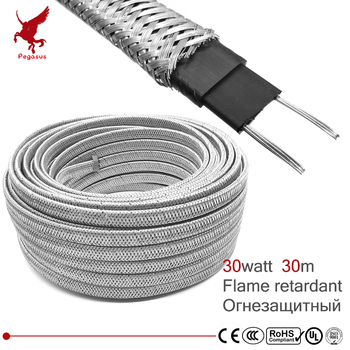 30m Shield 220V Flame retardant heating cable 12mm Self regulat temperature Water pipe protection Roof deicing heating cable