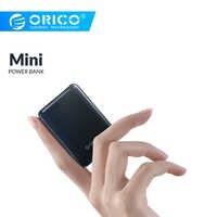 ORICO 5000mAh Power Bank Schlank Mini Tragbare Externe Batterie Aufladen Power Für iphone Xiaomi Smartphone Kleine Power Bank