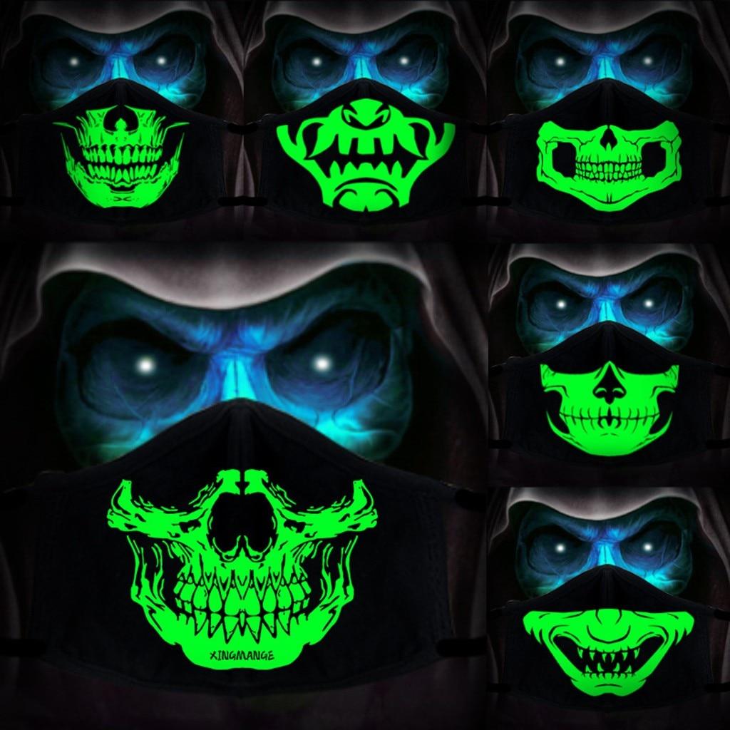Cosplay anime máscara reutilizável 3d impresso rosto tecido máscaras la casa de papel crânio adereços dia das bruxas festa festiva máscara mondkapjes