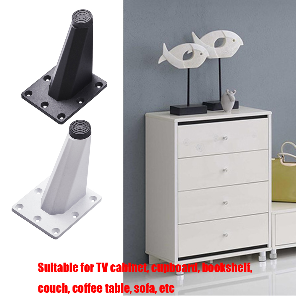 4pcs Modern Practical Office Furniture Table Legs Oblique Easy Install Floor Protector Couch Sofa Foot TV Cabinet Aluminum Alloy