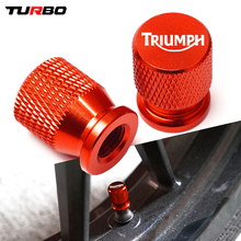 Motorcycle CNC Tire Valve Air Port Stem Cover Caps  For Triumph Daytona 675 Street Triple/R Tiger Explorer 1200 800 XC