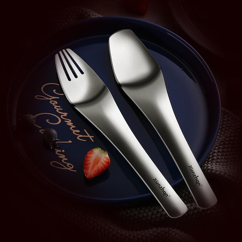 Fork Spoon Dinnerware Set 304 Stainless Steel Dessert Ice Cream Convenient Household Tableware