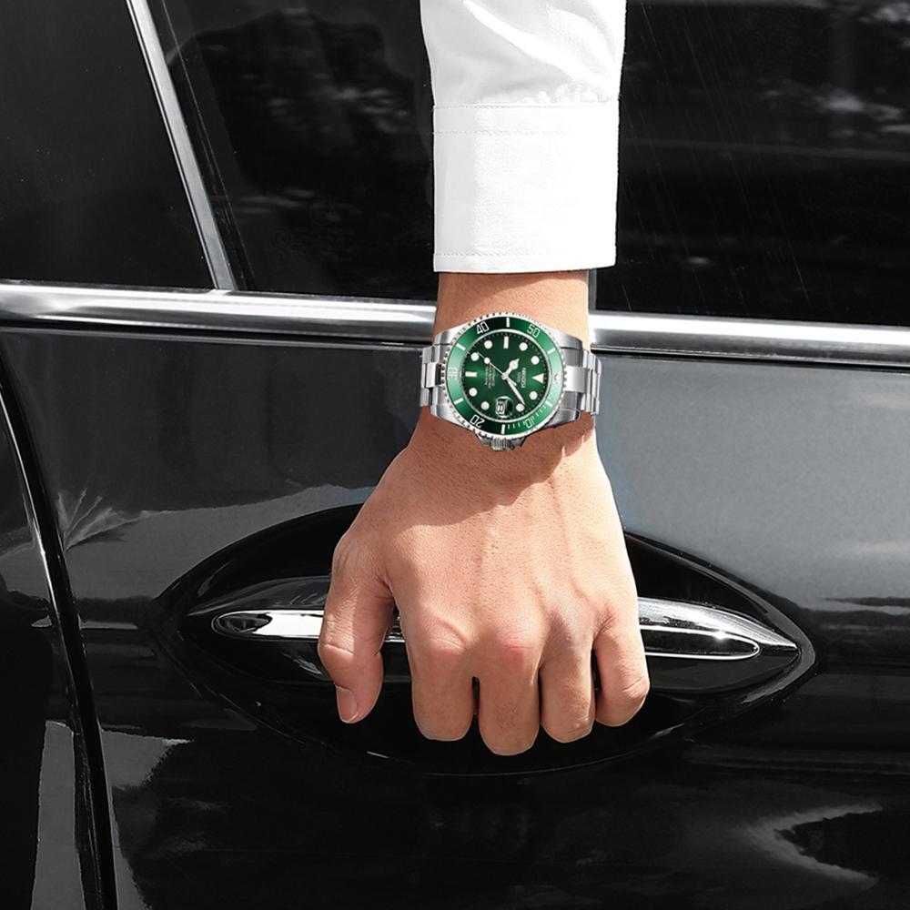 NIBOSI Mechanical Watch Men 10Bar Automatic Luxury Men Watch Sport Wristwatch Two-Tone Reloj Hombre Tourbillon Relogio Masculino 6
