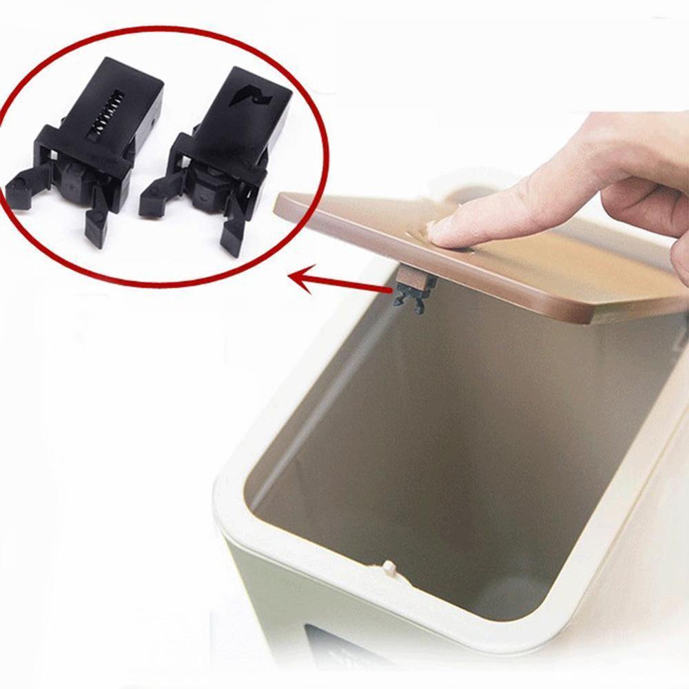 10PCS Door Lock Trash Can Bin Switch Trash Can Push-type Switch Lock Car Buckle Black/White