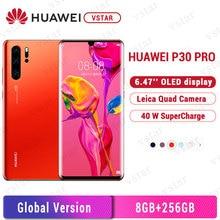 "Version mondiale Original Huawei P30 Pro 8GB 256GB téléphone portable 6.47 ""OLED à lécran Kirin 980 Octa Core Android 9.0 NFC 4200mAh"