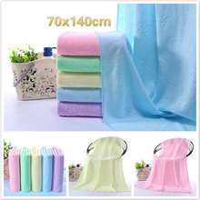 70x140cm Ultra Fine Cellulose Color Cartoon Jacquard Women Home Wearable Fast Dry Gym Yoga Magic Bath Large Towel Beach Bathrobe