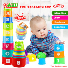Stacking Cups Figure Educational-Toys Rainbow-Cups-Stacking-Tower Gifts Fun Baby Mini