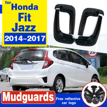 Set Molded Mud Flaps For Honda Fit / Jazz 2014-2017 Mudflaps Splash Guards Front Rear Mud Flap Mudguards Fender 2015 2016 set molded mud flaps for honda fit jazz 2014 2017 mudflaps splash guards front rear mud flap mudguards fender 2015 2016