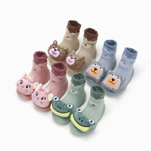 Baby socks shoes baby non-slip cotton floor shoes socks terry rubber thickened baby toddler shoes baby anti slip socks