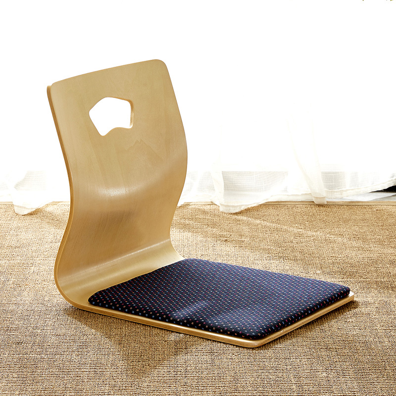 (4pcs/lot) Japanese Floor Chair Design Fan-shape Tatami Zasiu Legless Chair Natural Color Meditation Backrest Ergonomic Chair