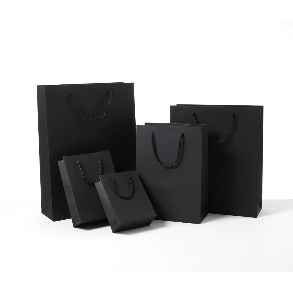 Black Classic Square Square Gift Box Packaging Bags Candy Wholesale Party Thank You Bags Gift Birthday Paper Bags For Gifts