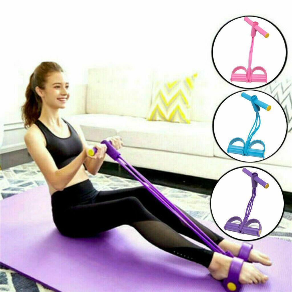 Multi-Function Tension Rope Fitness Pedal Exerciser Rope Pull Band Foot Yoga Fitness Latex Tube Equipment Abdomen Leg Exerciser