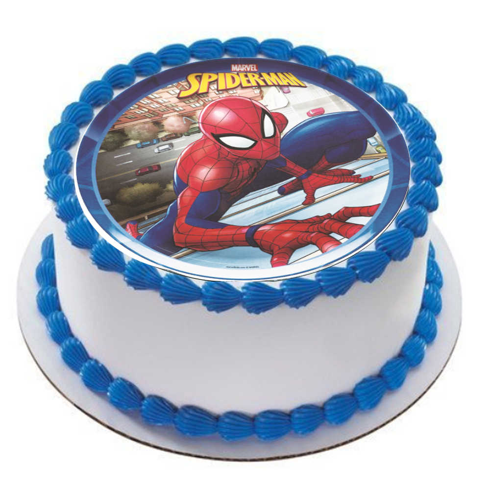 Enjoyable Spider Man Edible Paper For Cake Topper With Name Baby Boy Funny Birthday Cards Online Sheoxdamsfinfo