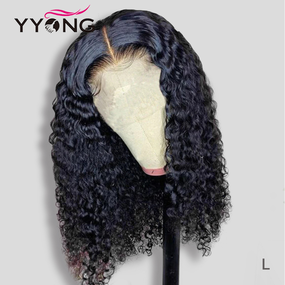 YYONG 6x1 Topline Lace & 4x4 Lace Closure  Bob Wigs  Water Wave  Short Bob Wig With Pre Plucked 1