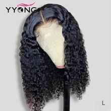YYONG-Peluca de cabello humano con cierre de encaje, pelo humano con corte Bob, brasileño, ONDA DE AGUA, Bob corto, prearrancado, 6x1, 4x4