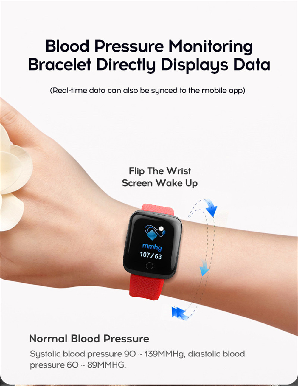 12-130435- Smart Watch Men Blood Pressure Waterproof Smartwatch Women Heart Rate Monitor Fitness Tracker Watch GPS Sport For Android IOS