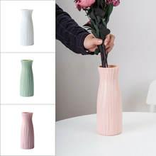 Современная пластиковая ваза сушеный цветочный горшок цветочные