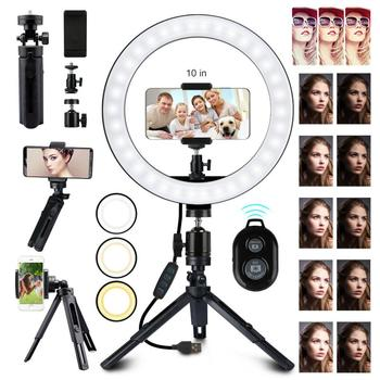 10 Inch Ring Light With Stand LED Camera Selfie Light Ring Aro De Luz Para Hacer Aro De Luz Para Celular For Video Vlog