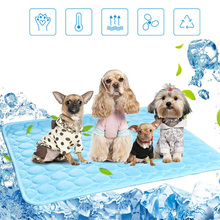 Pet Puppy Cat Summer Cooling Mat Ice Pad Large Size Silk Cool Beds Sofa Cushion Fit All