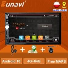 Eunavi 2 din android rádio do carro universal carro multimídia player rádio estéreo gps navigationwifi tela de toque dsp auto sem dvd cd