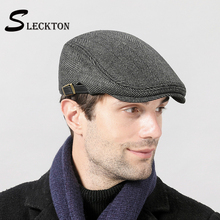 Hats Newsboy-Caps Beret-Hat Tweed Mens SLECKTON for Fashion Dad Gorros Hombre Casquette