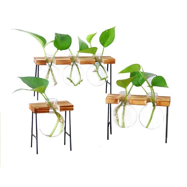 Fashion Hydroponic Vase Borosilicate Transparent Glass Bulb Vase Mini Garden Water Planting Propagation Stations Home Decor Gift 1