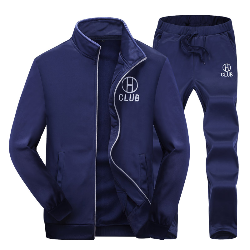 Spring Men Jacket+Pants Youths Casual Autumn&Spring Fitness Clothing Mens Long Sleeve Sets Sweatshirts Brand Tracksuits BB50T