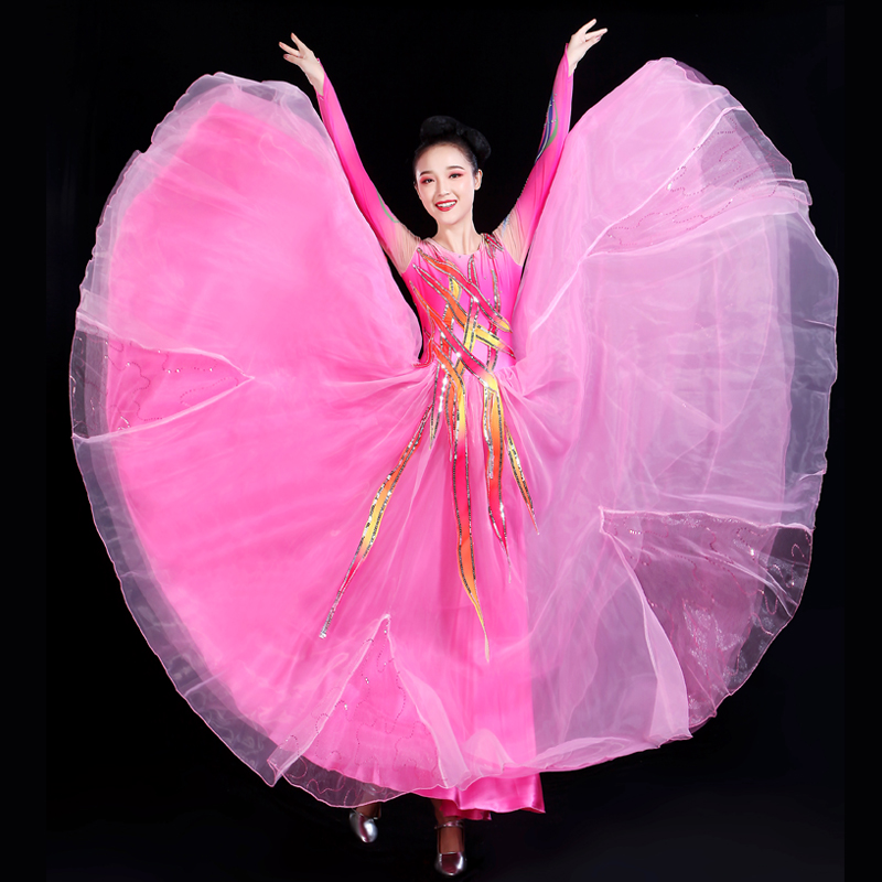 2021 Flamenco Dress Women Fairy Gypsy Dresses Opening Dance Outfit Extoic Dance Wears Classical Dance Clothes Stage Costume