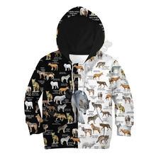 Толстовки с 3d принтом волк детский пуловер свитшот спортивный