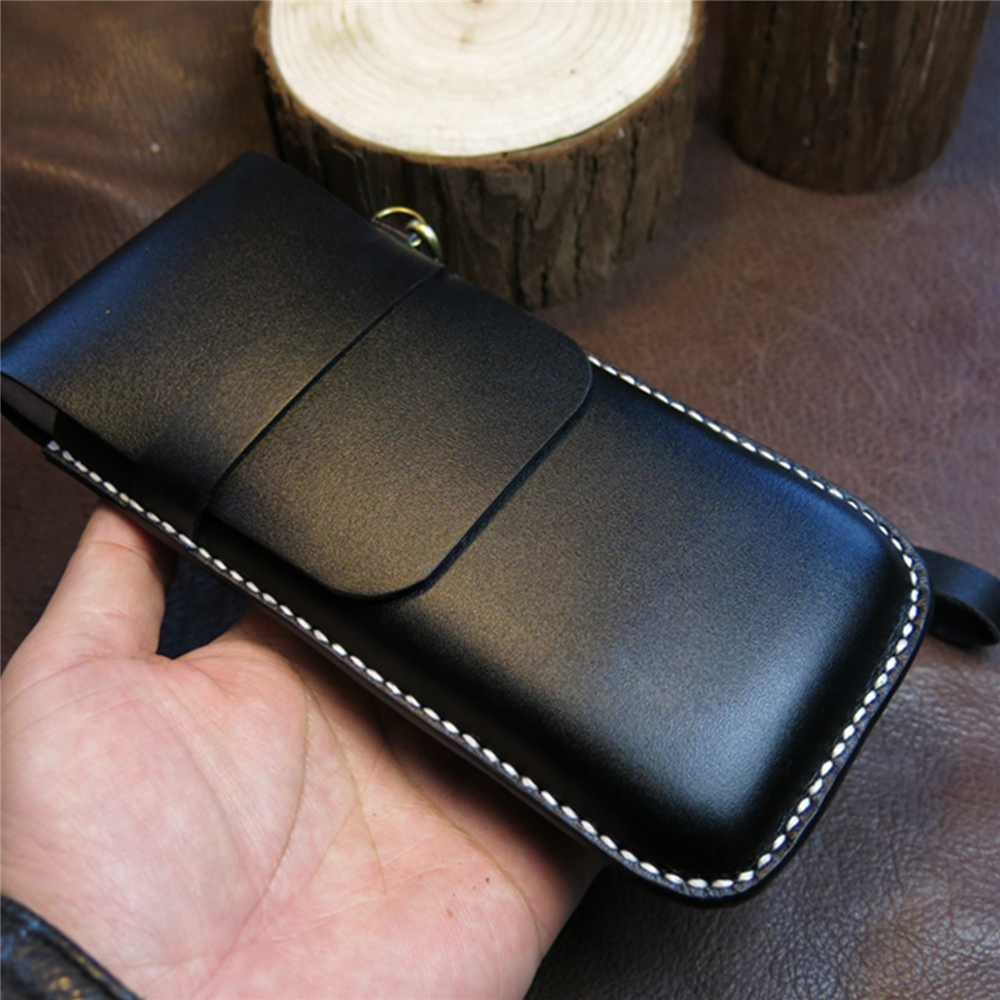 Saco de telefone protetor de couro telefone