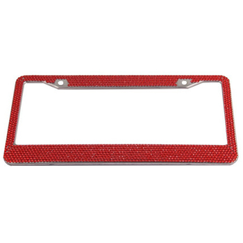 RhineStone License Plate Frame For Car Number Plate For USA Holder Car Registration Plate License Cover Rear    Auto Metal Frame