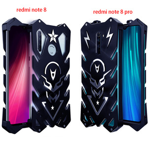 Image 1 - עבור Xiaomi Redmi הערה 8 פרו Zimon יוקרה חדש Thor Heavy Duty שריון מתכת אלומיניום טלפון מקרה עבור Xiaomi Redmi הערה 8 פרו מקרה