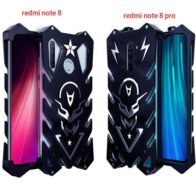 עבור Xiaomi Redmi הערה 8 פרו Zimon יוקרה חדש Thor Heavy Duty שריון מתכת אלומיניום טלפון מקרה עבור Xiaomi Redmi הערה 8 פרו מקרה