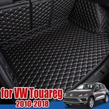 Bandeja protectora de suelo para maletero de coche, forro de carga, tapete para maletero, para Volkswagen VW Touareg 2010 2011 2012 2013 2014 2015 2016 2017 2018