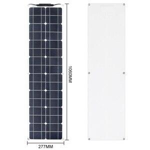 Image 3 - 2*50W (100W)  12V חצי גמיש גמיש יחיד פנל סולארי קרוון ואן משודרג 10A שמש תשלום בקר לרכב RV ימי