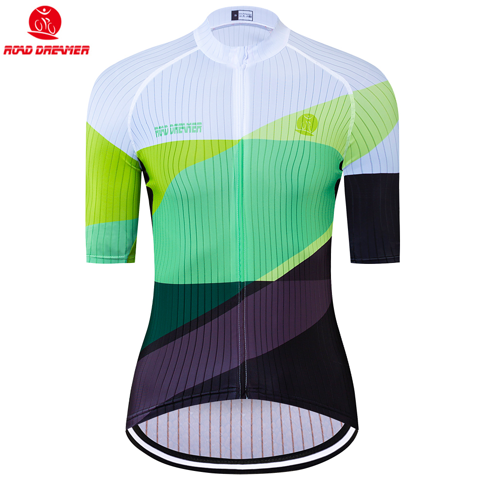 Bike Jersey Short-Sleeve Triathlon Maillot-Ciclismo Women New Green Mtb Lycra Breathable