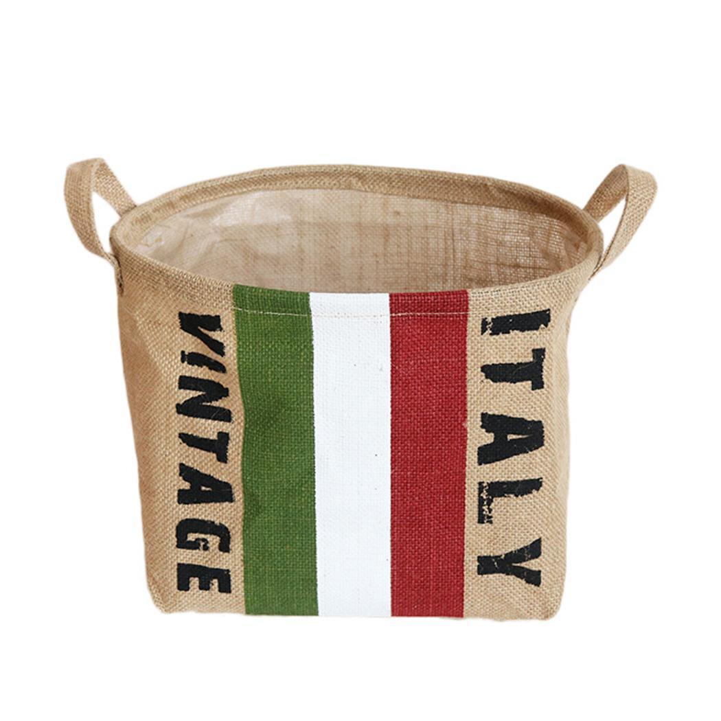 Cotton Linen Storage Bucket Waterproof Household 1-5 As Picture Sundries Storage Basket