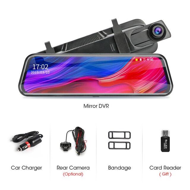 Jansite 10 inch Mirror Car DVR Streaming Media Full Screen Car Camera dash cam 1080P rear view camera Parking Monitor recorder 5