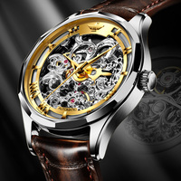 Men Watches 2020 Luxury Men Mechanical Wristwatch Leather Classic Automatic Watch Men Skeleton Business Montres mecaniques