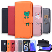 Lovely Animal Flip Leather Phone Case For iPhone 12 11 Pro X XS XR Max 6 7 8 SE 6S Plus 5 5S Fundas Card Holder Stand Book Cover