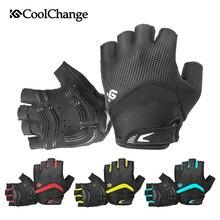 цена на CoolChange Cycling Gloves Shockproof Breathable Half Finger Bike Gloves Sports Anti-sweat Anti-slip Bicycle Gloves For Men Women