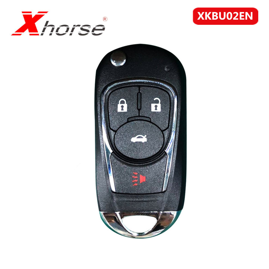 Xhorse VVDI2 For Buick Style 4 Buttons XKBU02EN Wire Flip Universal Remote Key For VVDI2 VVDI Key Tool English Version 10Pcs/lot